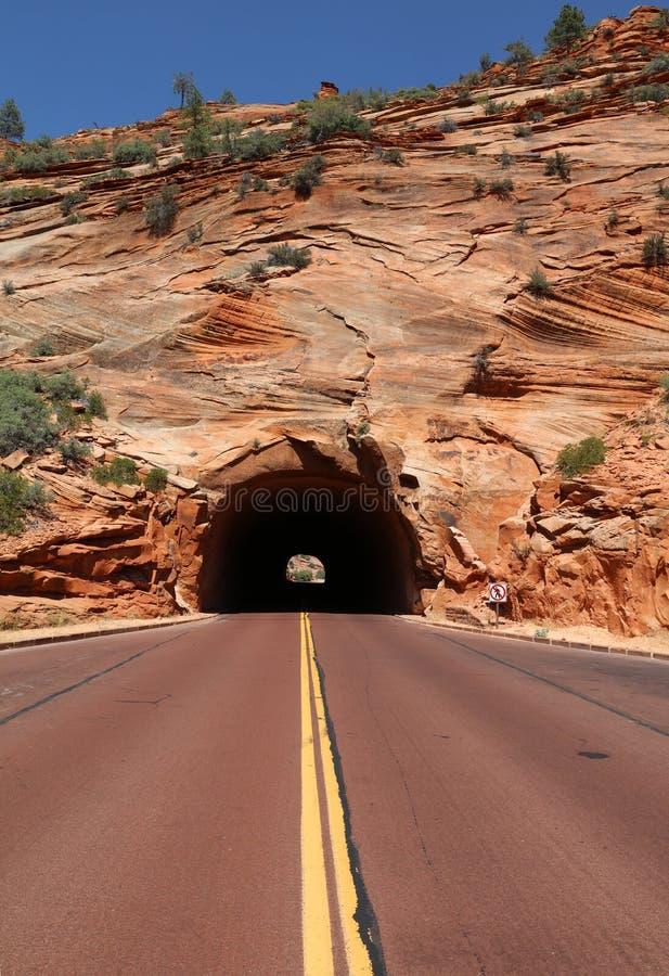 Weg door Rode Canion in Dixie National Forest Utah royalty-vrije stock afbeelding