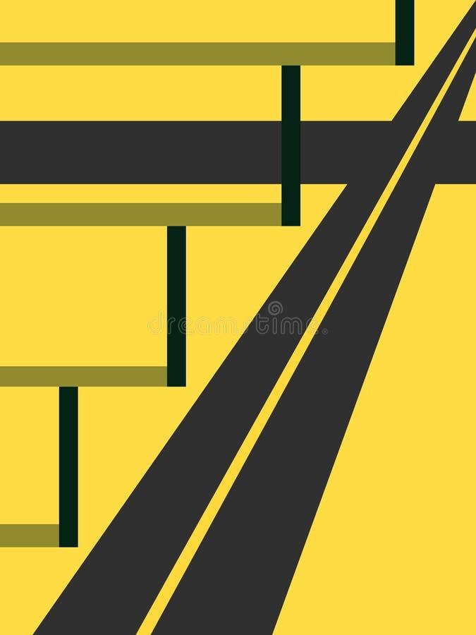 Weg en de kolom vector illustratie