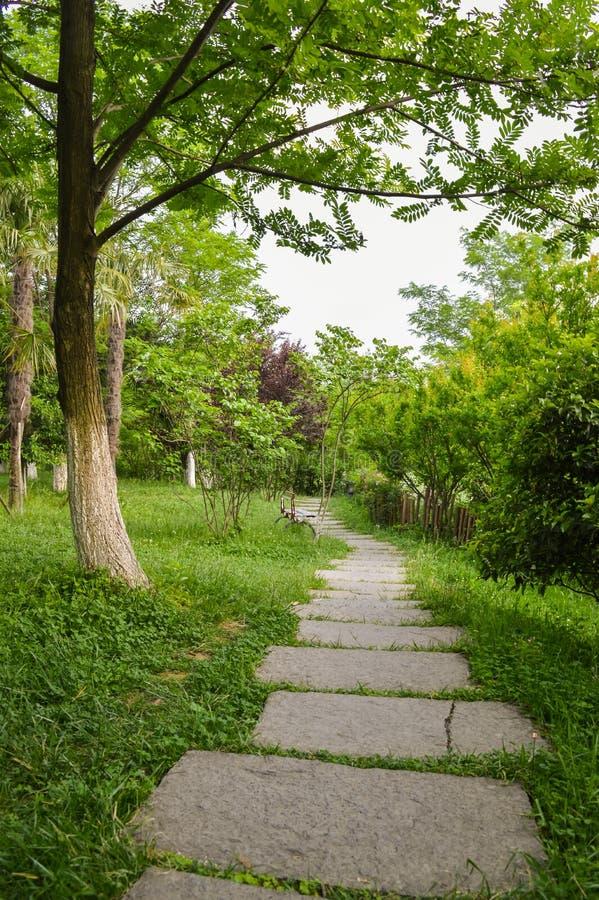 Weg in Gartenpark 2 lizenzfreie stockfotos