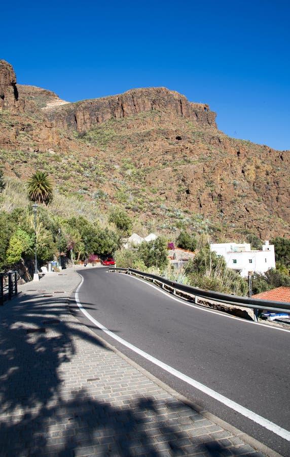 Weg in Gran Canaria royalty-vrije stock afbeeldingen