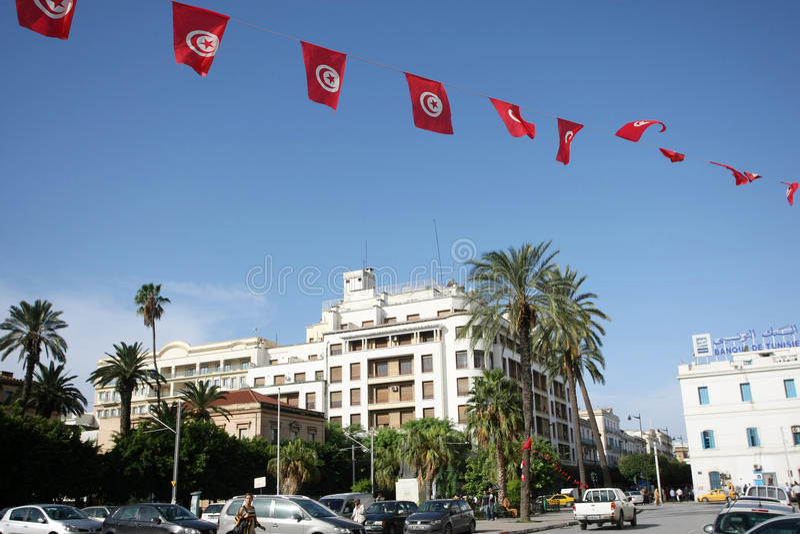 Weg Habib Bourguiba stock foto's