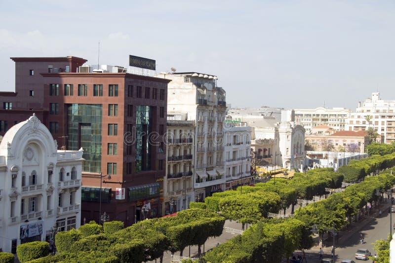 Weg Habib Bourguiba, Tunis, Tunesië royalty-vrije stock fotografie