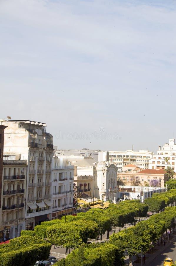 Weg Habib Bourguiba Tunis Tunesië royalty-vrije stock afbeelding