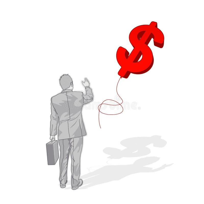 Weg het drijven van Dollar stock illustratie