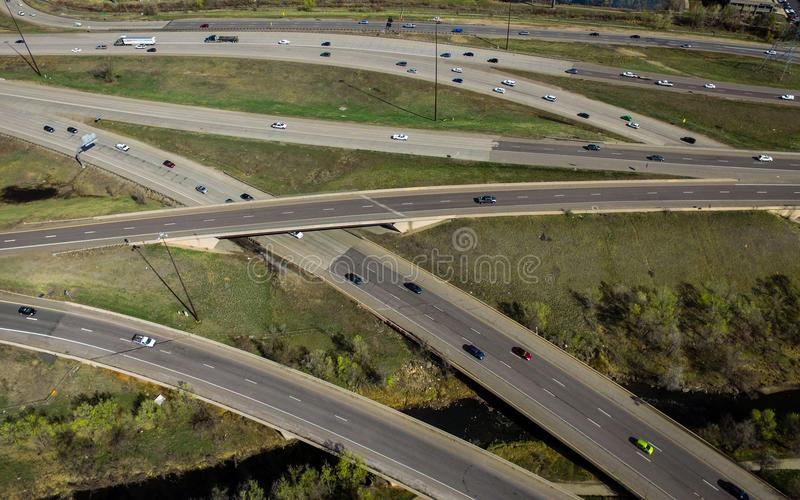 Weg I70, Arvada, Colorado royalty-vrije stock afbeelding