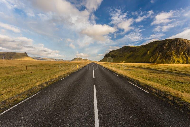 Weg in IJsland stock fotografie