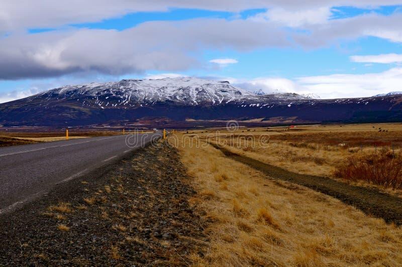 Weg IJsland royalty-vrije stock afbeeldingen