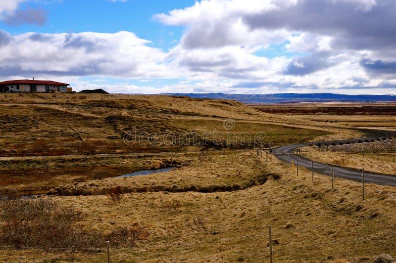 Weg IJsland royalty-vrije stock fotografie