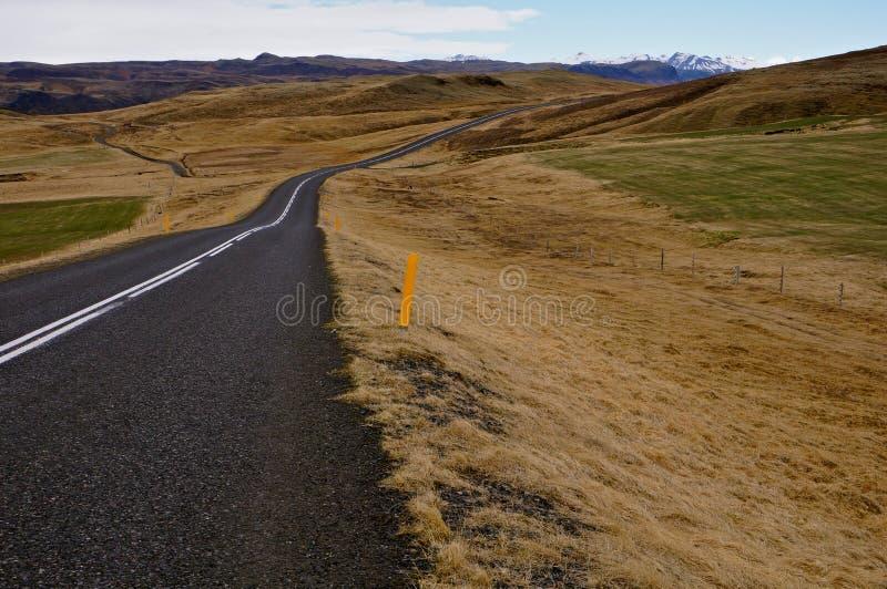 Weg IJsland royalty-vrije stock afbeelding