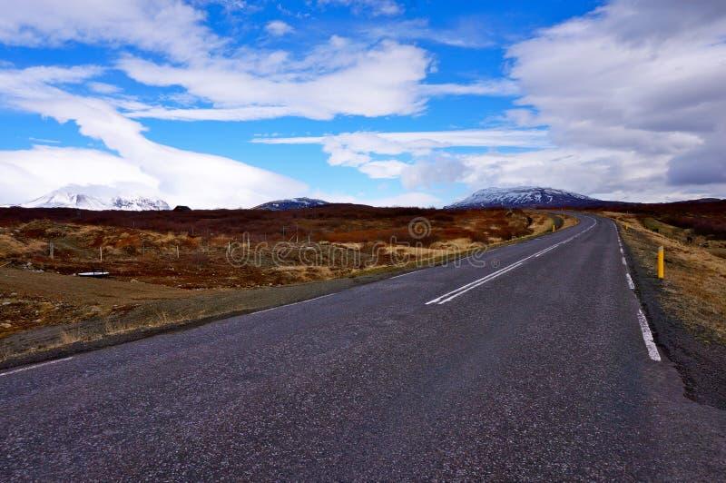 Weg IJsland stock afbeeldingen
