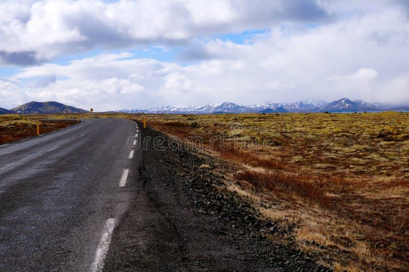 Weg IJsland stock afbeelding