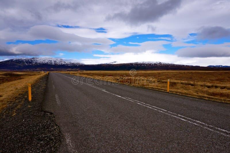 Weg IJsland royalty-vrije stock foto's
