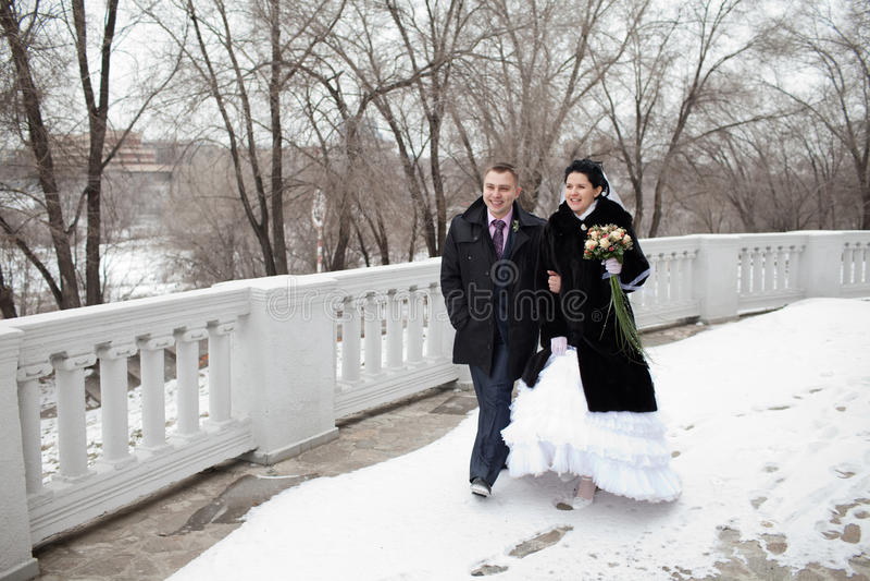 Weg im Winter lizenzfreies stockfoto