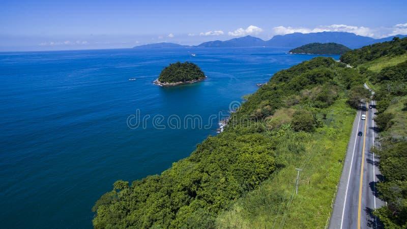Weg langs het overzees, Dos Reis van wegangra aan Rio de Janeiro royalty-vrije stock afbeelding