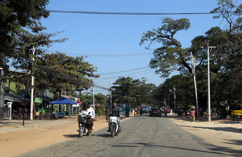 Weg in Myanmar royalty-vrije stock fotografie