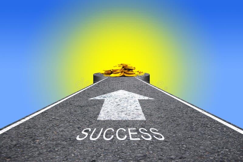 Weg naar het succes stock fotografie