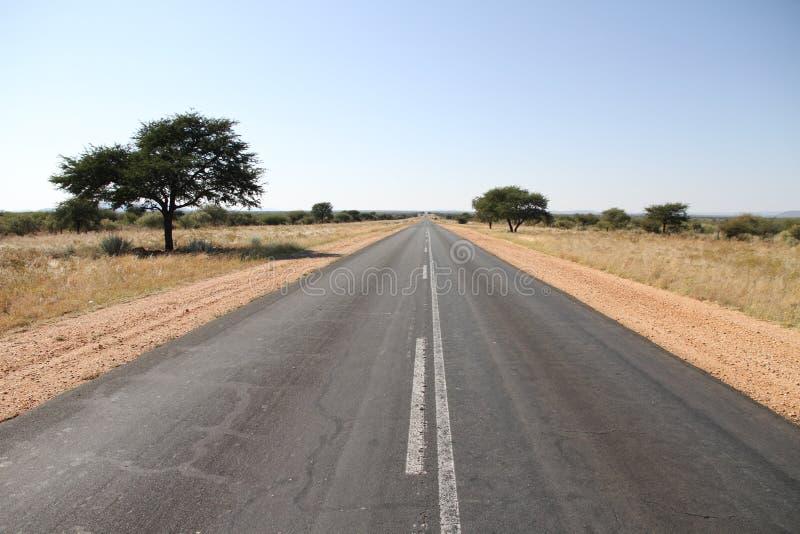 Weg in Namibië stock afbeeldingen