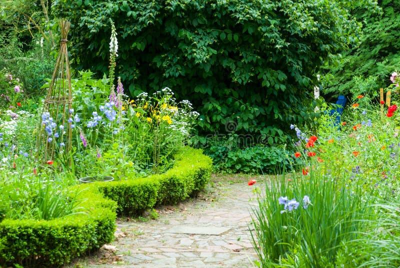 weg in natuurlijke tuin stock afbeelding afbeelding bestaande uit papaver 41421807. Black Bedroom Furniture Sets. Home Design Ideas