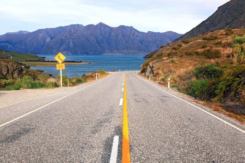 Weg Nieuw Zeeland royalty-vrije stock foto's
