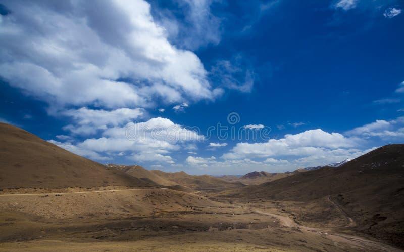 Weg op Tibet stock foto's