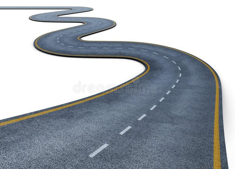Weg op witte achtergrond wordt geïsoleerd die 3d geef image vector illustratie
