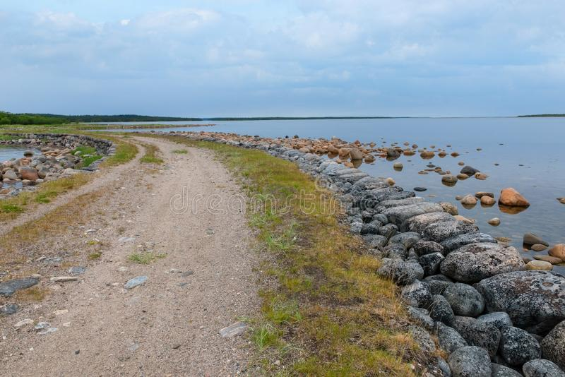 Weg over de dam royalty-vrije stock fotografie