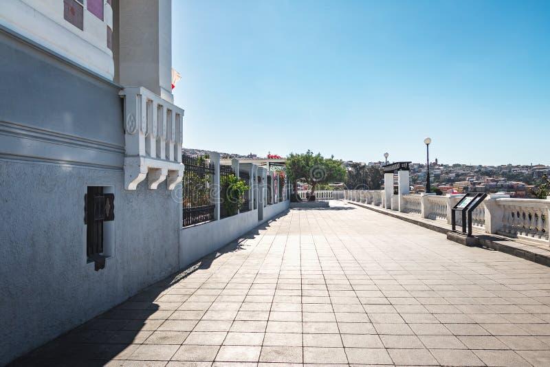 Weg Paseo Yugoslavo in Cerro Concepción - Valparaiso, Chile stockbild