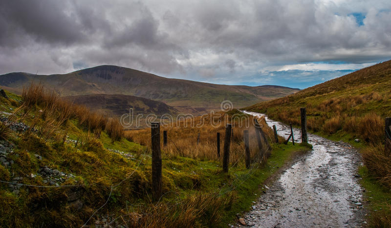 Weg in Snowdonia stock fotografie