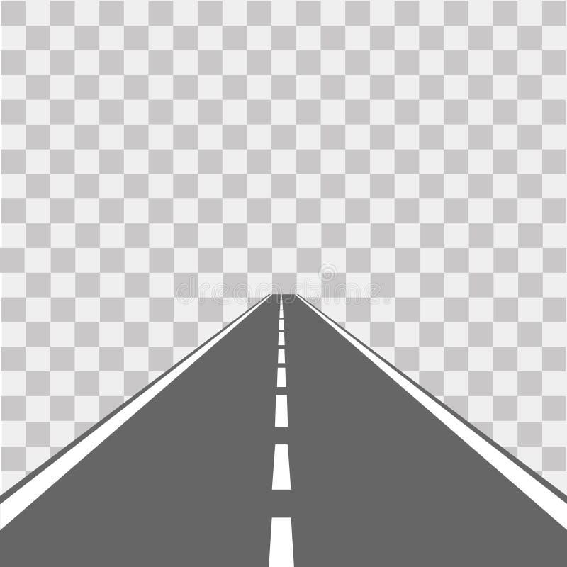 Weg, straat met asfalt weg Vector illustratie vector illustratie