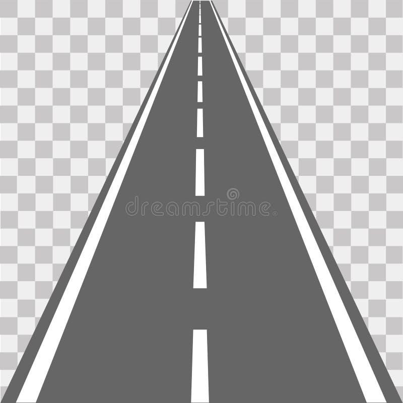 Weg, straat met asfalt weg Vector illustratie royalty-vrije illustratie
