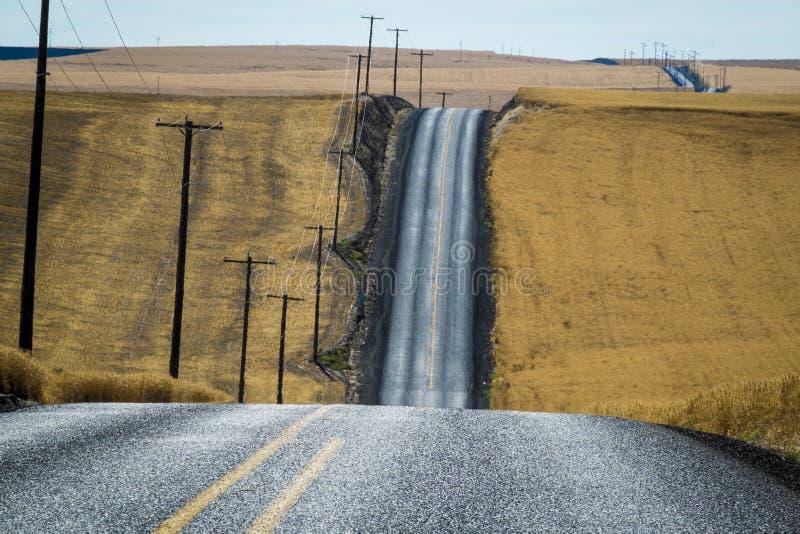 Weg, tarwegebieden, Washington State stock foto's