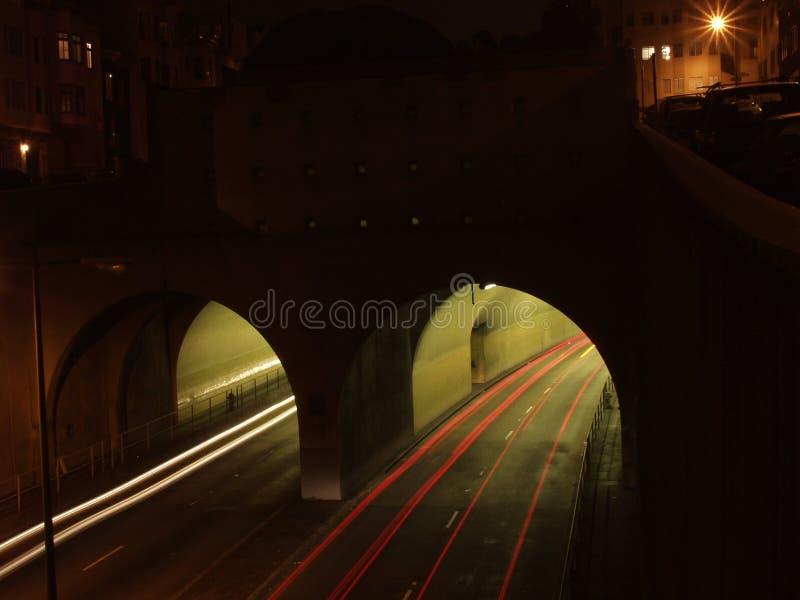 Weg tunel royalty-vrije stock foto