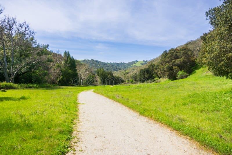 Weg van de de jacht de Holle vallei, Henry W Het Park van de Coestaat, Californië stock foto