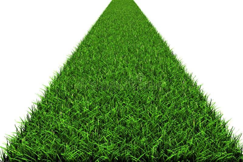 Weg van een gras stock illustratie