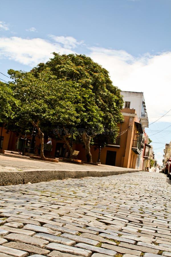 Weg van Rotsen, Oud San Juan, Puerto Rico 2 stock afbeeldingen
