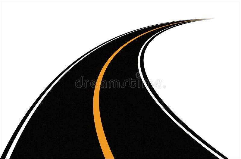 Weg (vector) stock illustratie