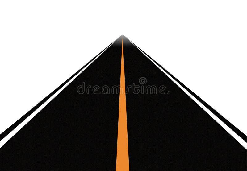 Weg (vector) royalty-vrije illustratie