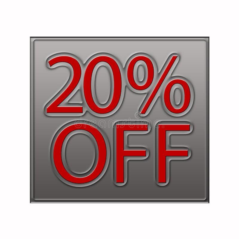20% weg von der Rabatt-Angebotillustration stock abbildung