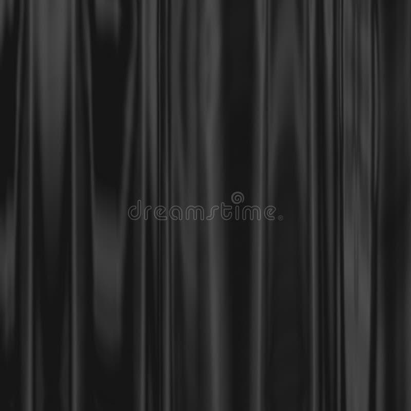 Weg von der schwarzen Seide stockfotografie