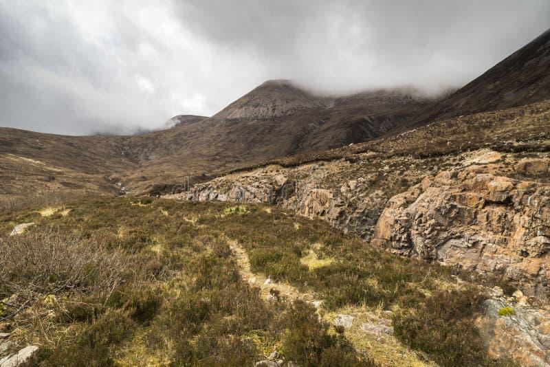 Weg zu Marsco im Cuillin auf der Insel von Skye stockfoto