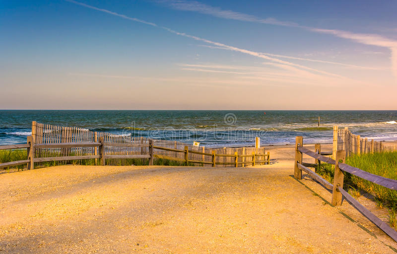 Weg zum Atlantik in Atlantic City, New-Jersey lizenzfreies stockfoto