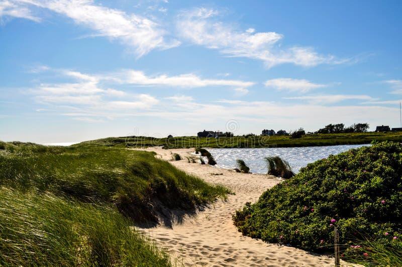 Weg zum Strand - Nantucket lizenzfreies stockbild