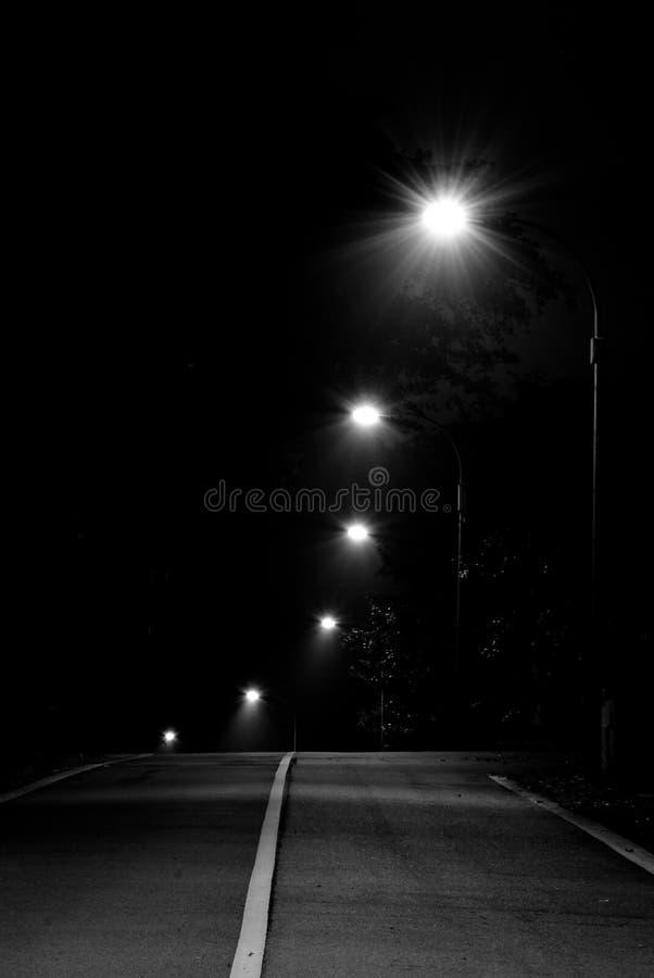 Weg in Zwart-wit stock afbeelding