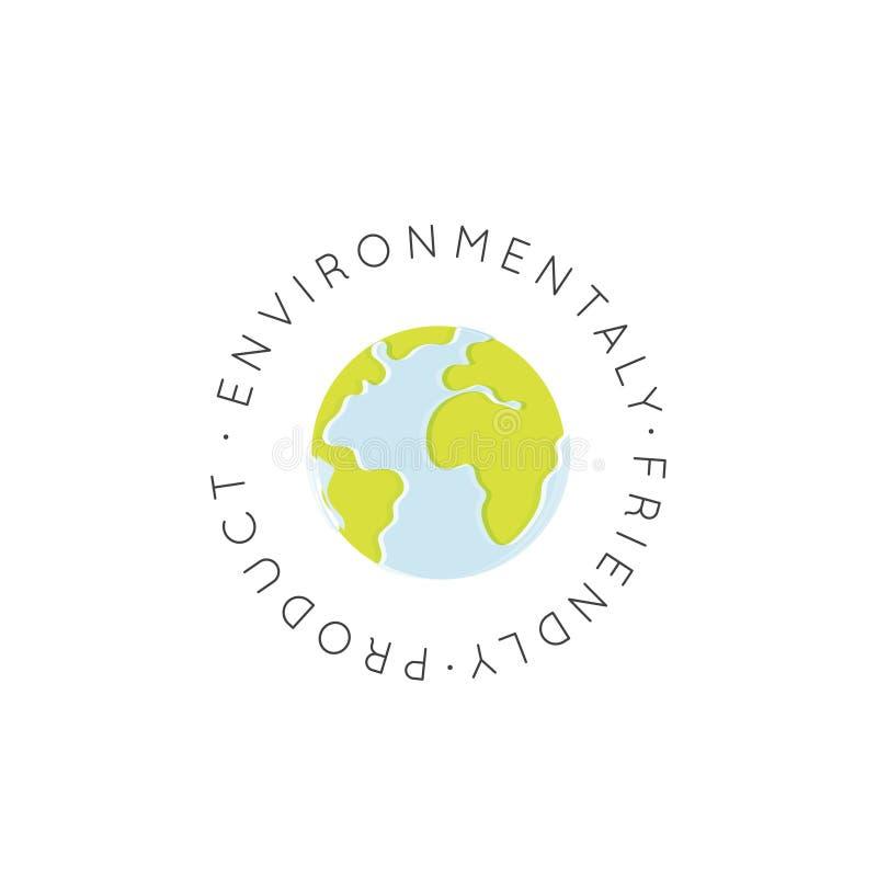 Weganin Życzliwy, Świeży Poświadczam Organicznie, Ekologicznie Życzliwy, Eco produkt ilustracji