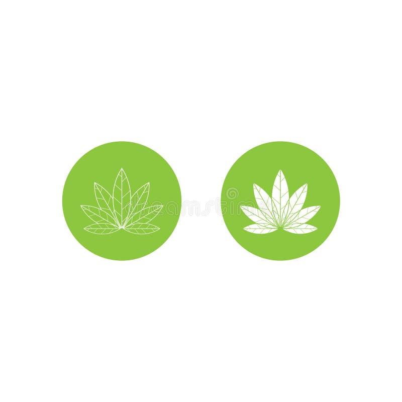 Weganin ikony zieleni liścia etykietki szablon dla weganinu lub jarosza pakunku karmowego projekta Odosobniona zielona liść ikona royalty ilustracja