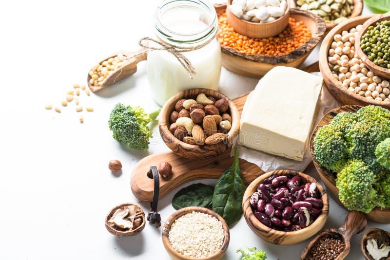 Weganin proteiny źródło fotografia stock