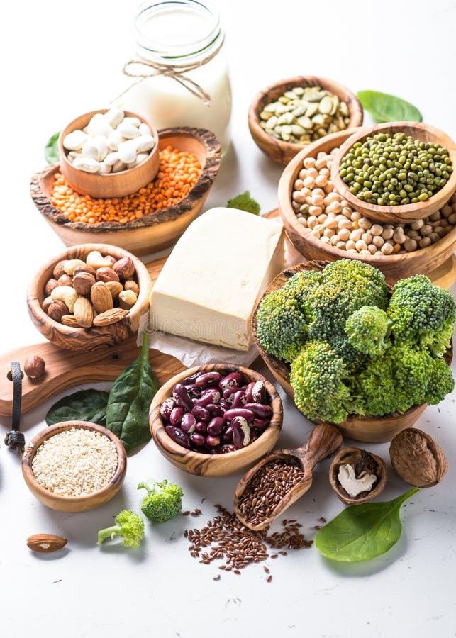Weganin proteiny źródło obraz royalty free