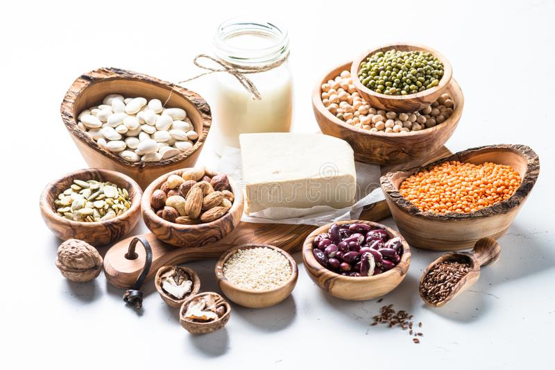 Weganin proteiny źródło zdjęcie royalty free
