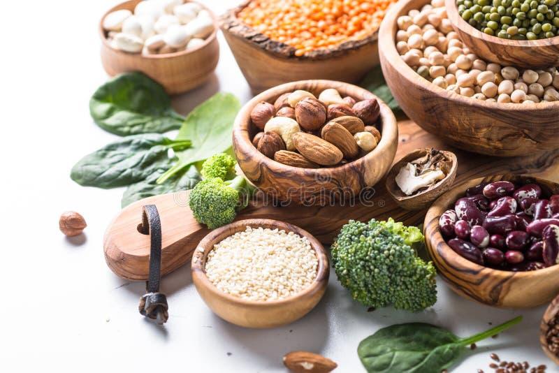 Weganin proteiny źródło obraz stock