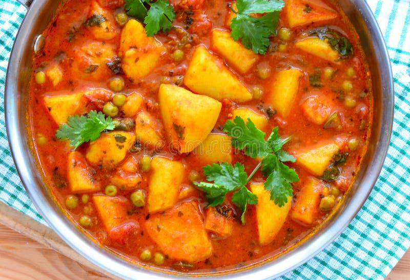 Weganinu curry'ego Indiański aloo matar fotografia stock